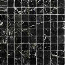 м  NERO MARQUINA POL 30x30х7 мм, мозаика из натурального мрамора, полированная, 305х305 мм, на сетке