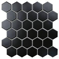 м  BLACK GAMMA  мозаика керамическая матовая , чип 51*59*4мм, 272*282мм