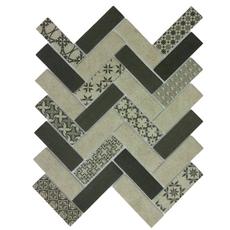 м  TWEED GRAY, мозаика стеклянная, чип 31*98*6 мм, лист 326*304 мм, сетка