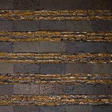 м  ДЕКОР LAVA STRIPE, мозаика из лавы, размер листа 300*320мм, на сетке