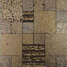 м  ДЕКОР LAVA GOLD, мозаика из лавы, размер листа 300*300*12 мм, чип 50*50+100*100 мм, на сетке