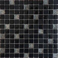 м  VESTA BLACK, мозаика стеклянная, чип 23*23*8 мм, лист 300*300 мм, на сетке