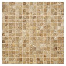 Каменная мозаика Emperador Light pol.15x15х4 мм.