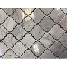 м  ДЕКОР ROVENA  BIANCO , каменная мозаика, лист 335*250*8мм, на сетке